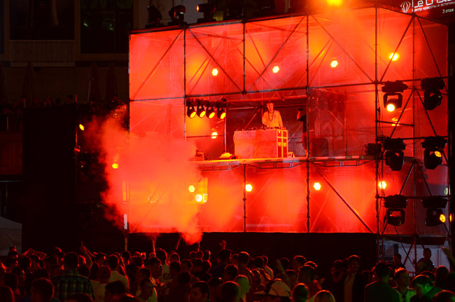 Fiesta clausura Eurocopa 2012, en Kiev (Ucrania)