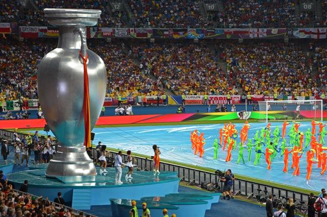 Ceremonia de clausura de la Eurocopa 2012 en el Estadio Olímpico de Kiev (Ucrania)