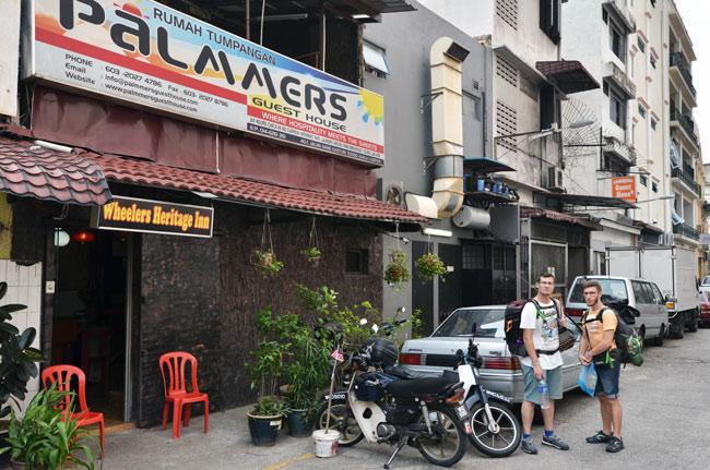 Guest House Palmers en el barrio chino de Kuala Lumpur (Malasia)