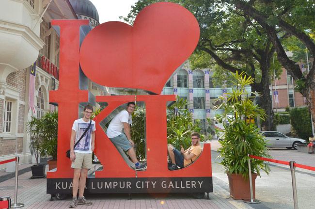 En el cartel I Love Kuala Lumpur del City Gallery de Kuala Lumpur (Malasia)