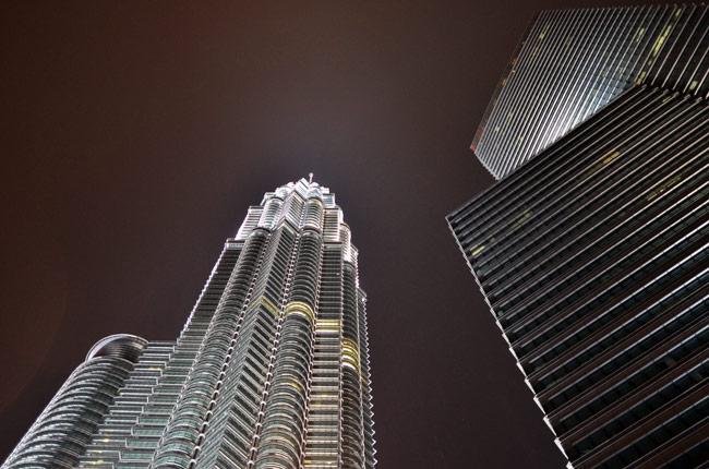 Torres Petronas desde lejos (Kuala Lumpur, Malasia)