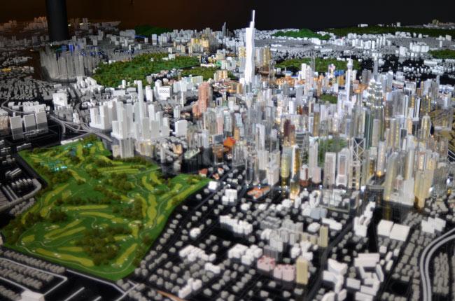Maqueta de la ciudad en Kuala Lumpur City Gallery