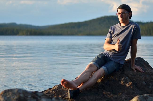 En el lago Inari, en Ivalo, al norte de Finlandia