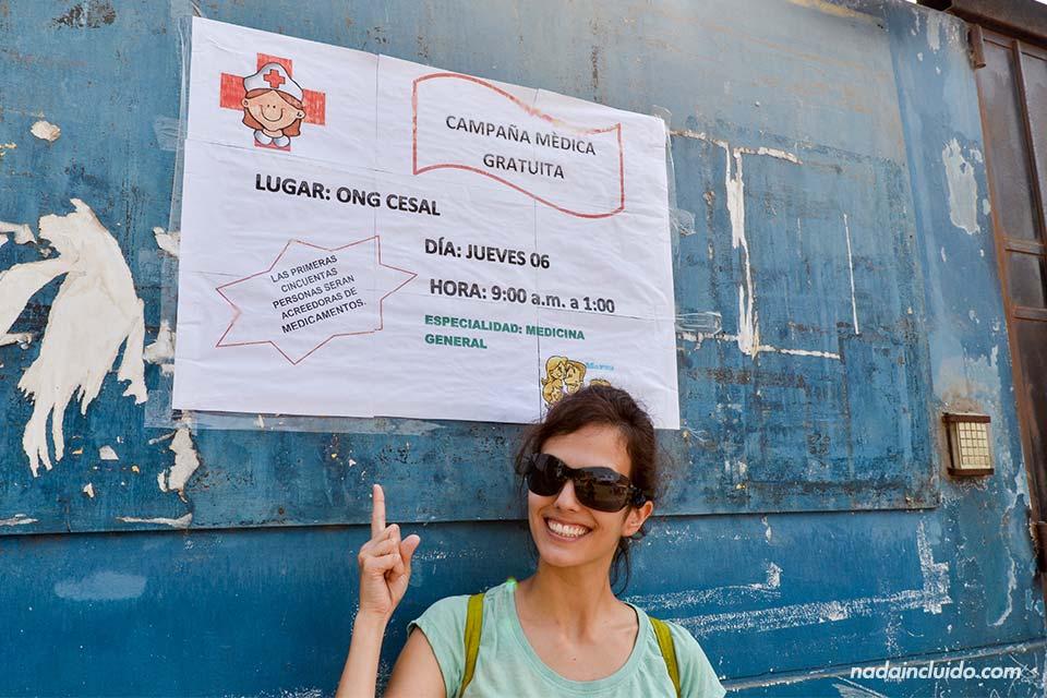 Lima,-Huachipa,-Cesal,-cartel-campaña-médica-(L)