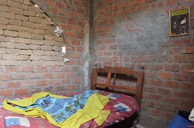 Habitación infantil en una casa en Huachipa, uno de los distritos más pobres de Lima (Perú)