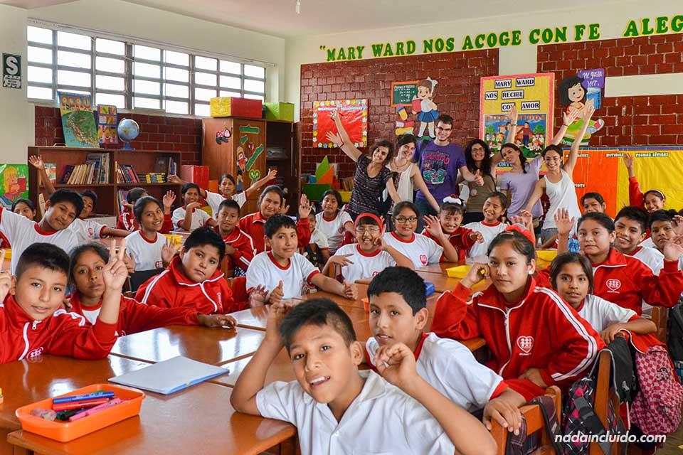 Lima, Jicamarca, colegio, clase