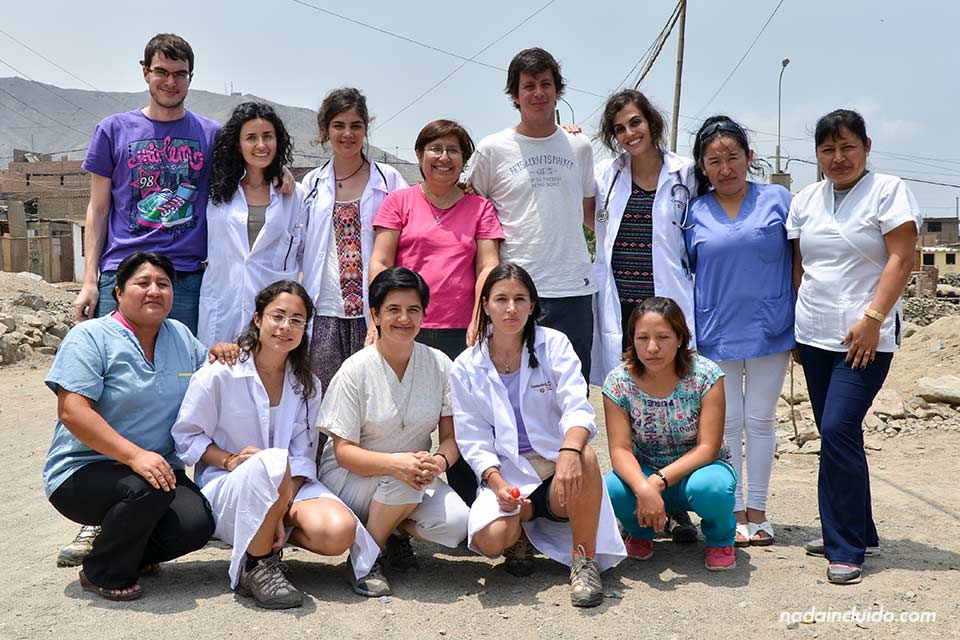 Lima, Jicamarca, voluntarios