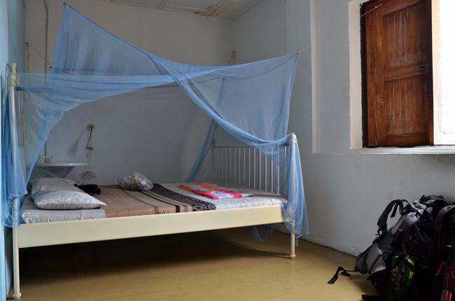 Nuestra habitación en un hostal en la calle Jalan Tukang (Malaca, Malasia)