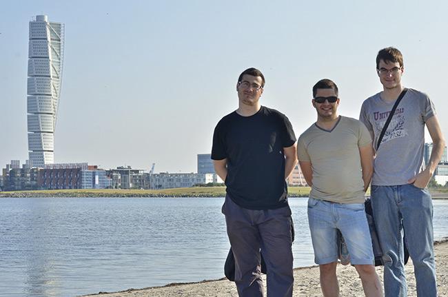 Vistas al Turning Torso desde la playa de Malmö (Suecia)