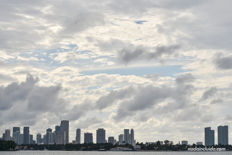 La ciudad de Miami vista desde lejos