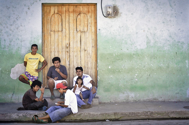 Nicaragüenses en la calle