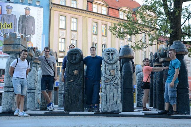 Monumento al ajedrez en Olsztyn (Polonia)