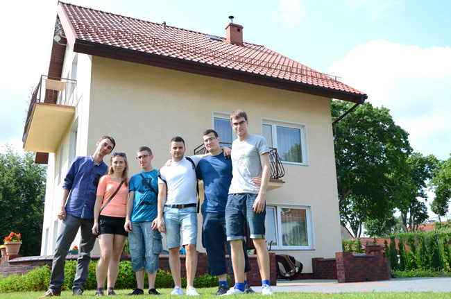 Couchsurfer e invitados en Olzstyn