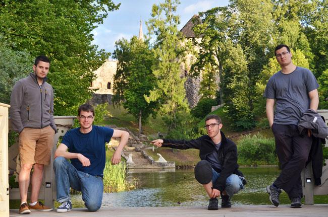 En el Cesu pils parks, en Cesis (Letonia)
