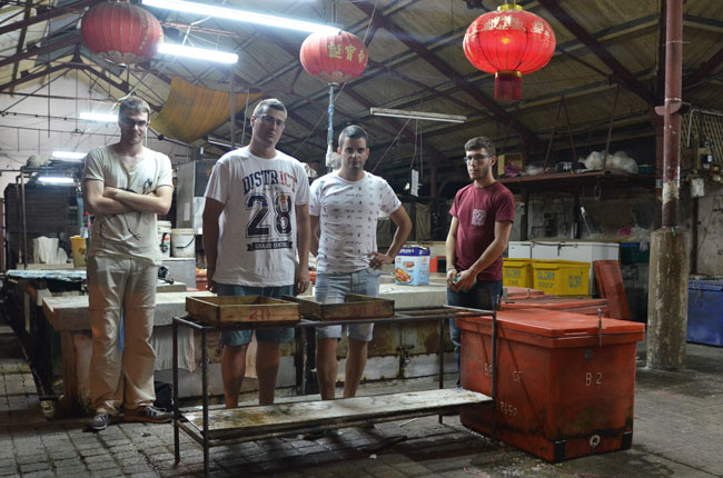 De noche en un mercado de Georgetown (Penang, Malasia)