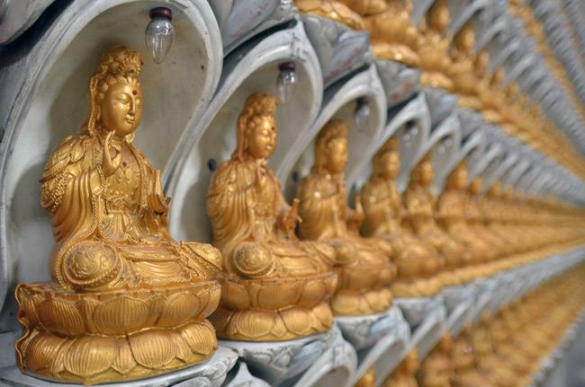 Estatuillas buda Kek Lok Si temple