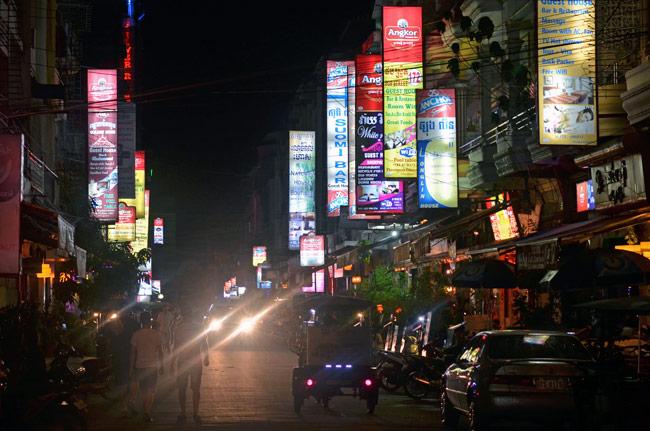 Paseo nocturno por Phnom Phen, capital de Camboya
