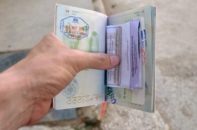 VIsado en el pasaporte en Poi Pet (Camboya)