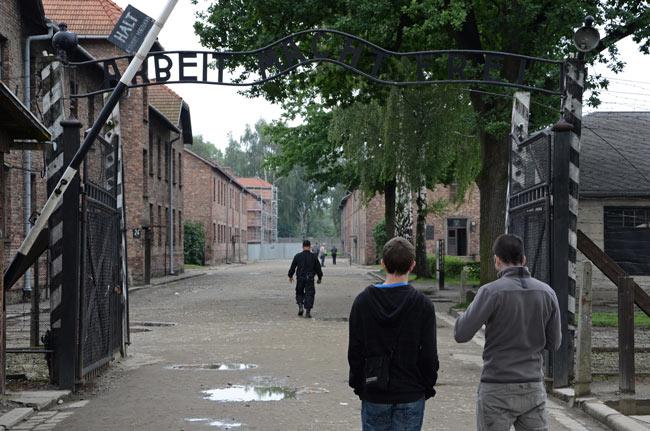 Entrada al campo de concentración de Auschwitz (Polonia)