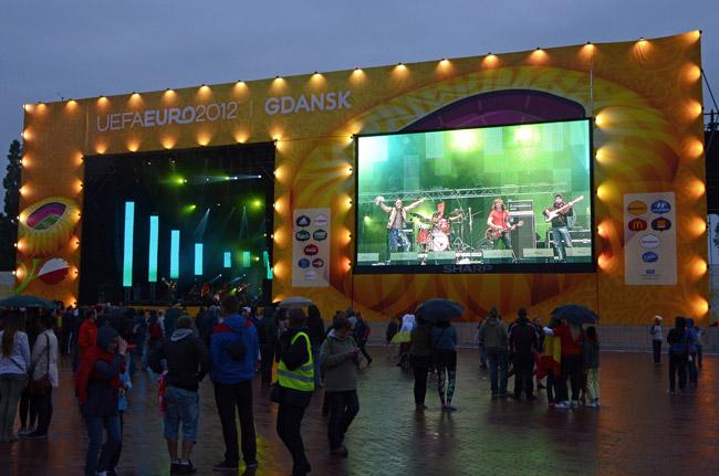 Fan Zone de Gdansk (Polonia) durante la Eurocopa 2012