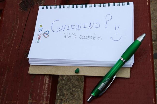 Libreta utilizada para llegar a Gniewino (Polonia). Mi único mapa
