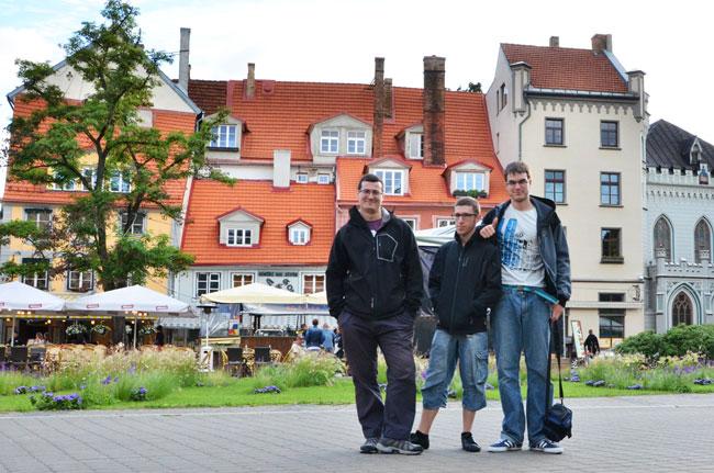 En la Plaza Meistaru de Riga (Letonia)