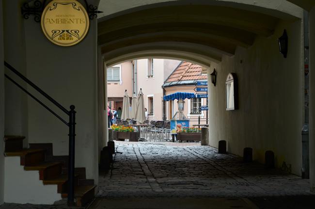 Pasaje en Riga (Letonia), Ambiente Restoran