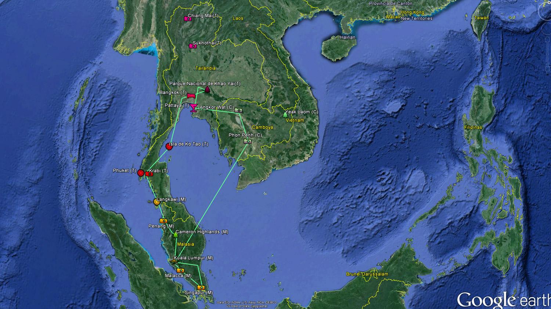 Nuestro plan de viaje Nada Incluido a Malasia, Tailandia y Camboya