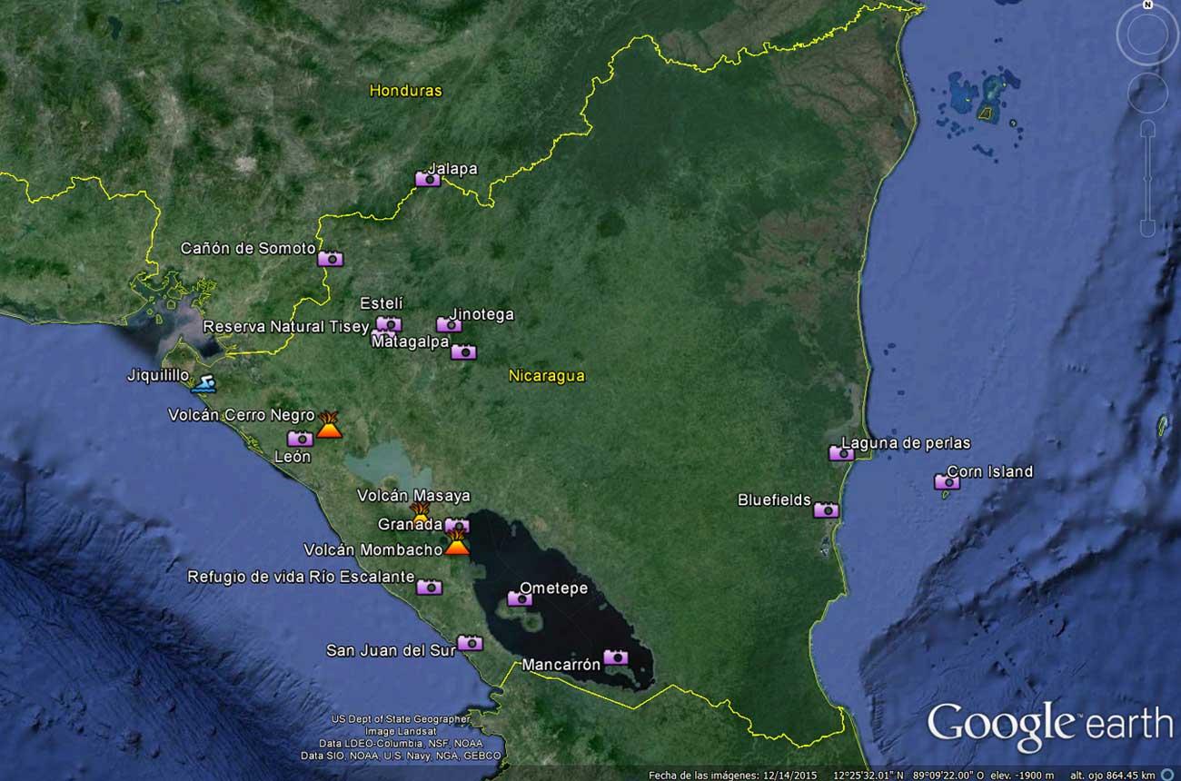 Lugares para ver en Nicaragua