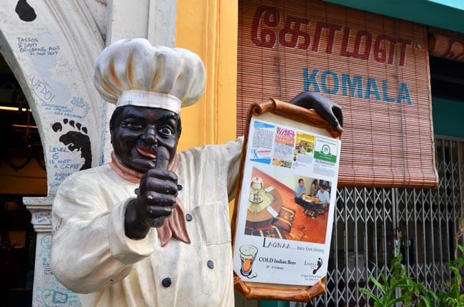 Restaurante indio en el barrio Little India de Singapur