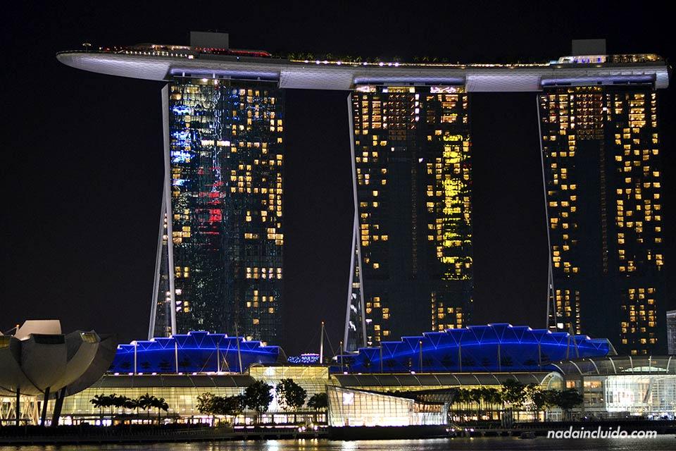 El edificio Marina Bay Sands, en Marina Bay (Singapur)