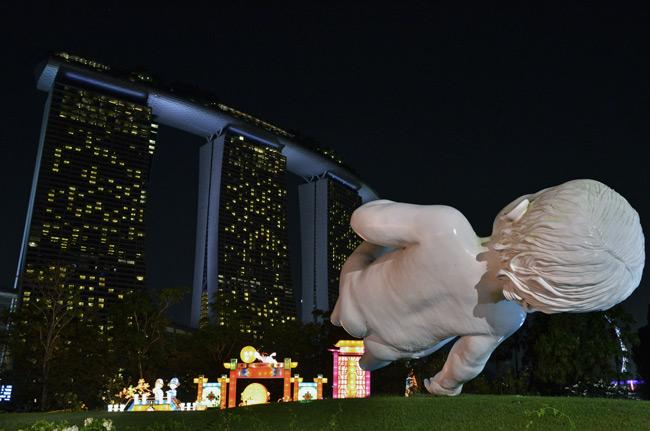 Vista del Marina Bay Sands desde los Gardens By the Bay, Singapur