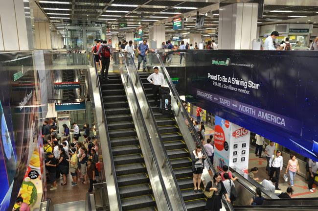 Estación de metro de Singapur