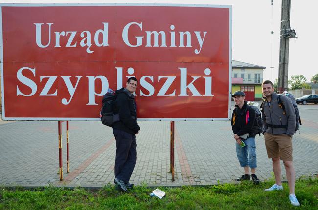 Cartel de bienvenida a Szypliszki (Polonia)
