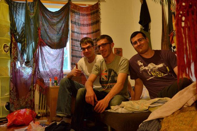 En la habitación de nuestra anfitriona en Tampere (Finlandia)