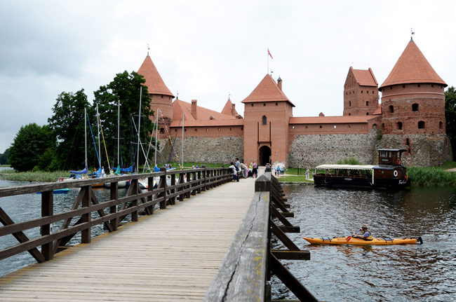 Entrada al castillo de Trakai (Lituania)
