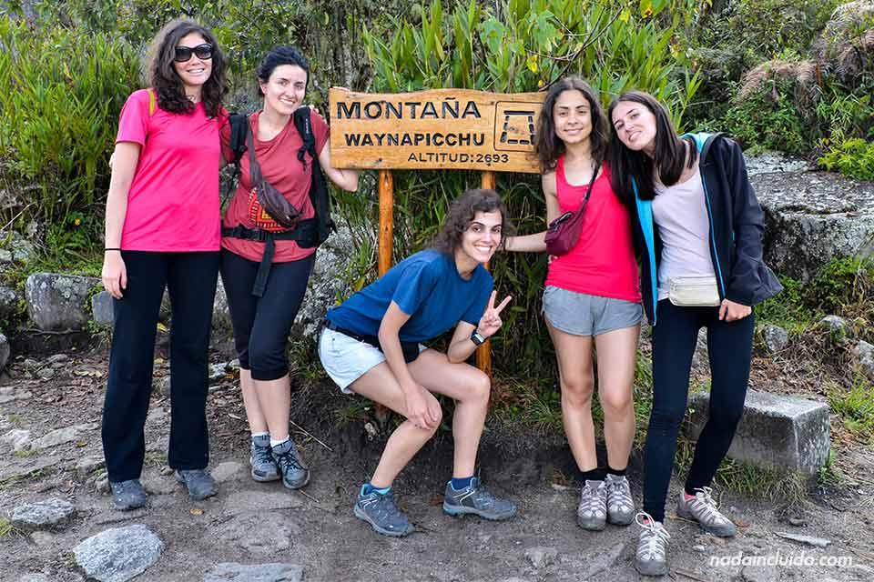 Cartel Wayna Picchu, Machu Picchu