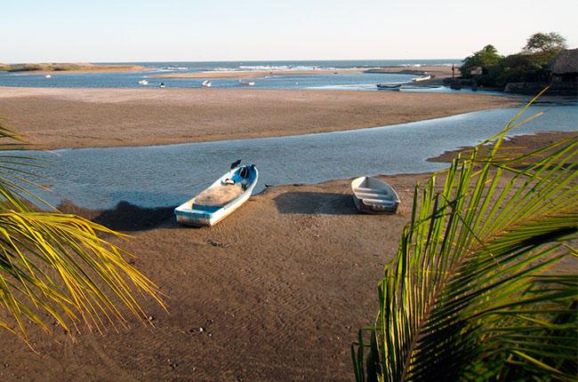 Playa de las Peñitas, en la región de León (Nicaragua)
