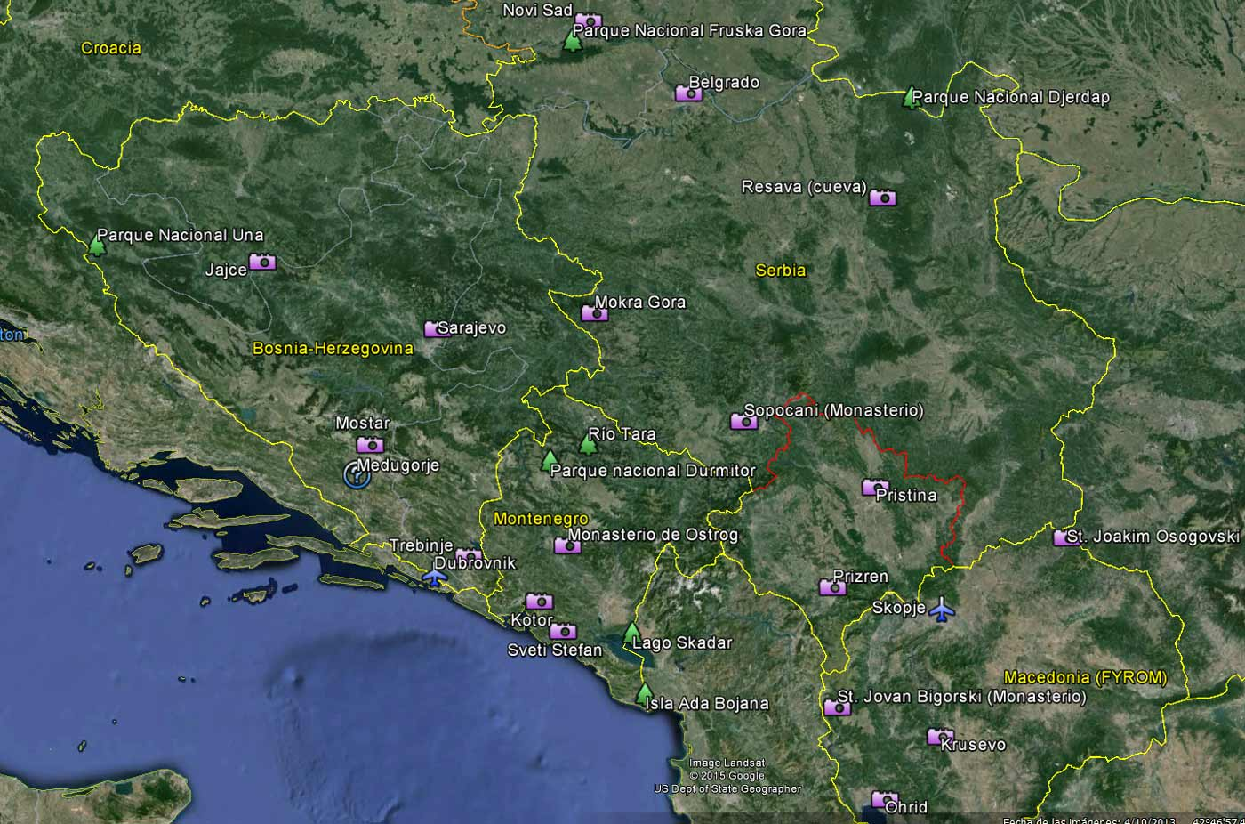 Lugares a visitar en nuestro viaje por los Balcanes - Croacia, Bosnia, Serbia, Kosovo, Macedonia y Montenegro